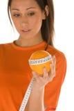 μέτρηση της πορτοκαλιάς γ& Στοκ Φωτογραφία