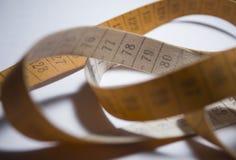 μέτρηση της ταινίας Πορτοκαλί χρώμα Στοκ εικόνες με δικαίωμα ελεύθερης χρήσης