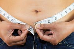 μέτρηση του στομαχιού Στοκ Εικόνες