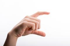 Μέτρηση χεριών Στοκ Εικόνες