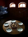 μέτριο μεσημεριανό γεύμα για πέντε ανθρώπους στοκ εικόνα