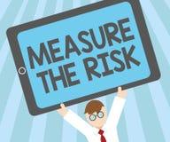 Μέτρο κειμένων γραψίματος λέξης ο κίνδυνος Η επιχειρησιακή έννοια για καθορίζει το βαθμό κινδύνου βασισμένο στους παράγοντες αντί απεικόνιση αποθεμάτων