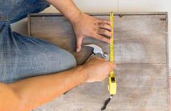 Μέτρο ξυλουργών το κιβώτιο για την αποτύπωση Στοκ φωτογραφία με δικαίωμα ελεύθερης χρήσης