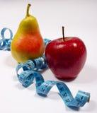 Μέτρο της Apple, αχλαδιών και ταινιών, έννοια διατροφής Στοκ Φωτογραφίες