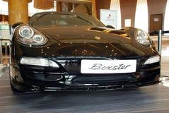 Μέτωπο εκδόσεων της Porsche boxster μαύρο στοκ εικόνες