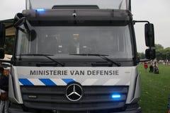 Μέτωπο ενός φορτηγού έκτακτης ανάγκης του εκτελεστικού αποσπάσματος στοκ φωτογραφία