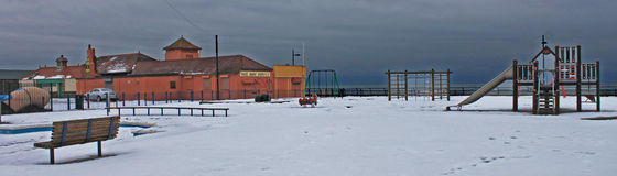 Μέτωπο θάλασσας το χειμώνα Στοκ φωτογραφία με δικαίωμα ελεύθερης χρήσης