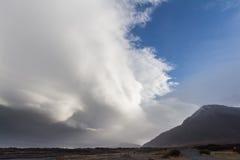 Μέτωπο θύελλας πέρα από την Ισλανδία Στοκ Εικόνα