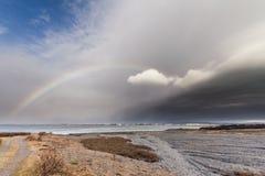 Μέτωπο θύελλας πέρα από την Ισλανδία Στοκ Φωτογραφία