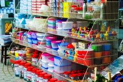 Μέτωπο καταστημάτων εργαλείων κουζινών Στοκ φωτογραφία με δικαίωμα ελεύθερης χρήσης