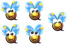 μέτωπο μελισσών bullseye που φαίν&ep Στοκ Εικόνες