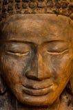 Μέτωπο προσώπου της πέτρας Βούδας Στοκ Φωτογραφία