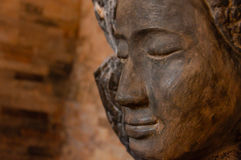 Μέτωπο προσώπου της πέτρας Βούδας Στοκ Φωτογραφίες