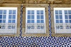 Μέτωπο σπιτιών στο Πόρτο, Πορτογαλία στοκ εικόνα με δικαίωμα ελεύθερης χρήσης