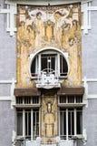 Μέτωπο σπιτιών nouveau τέχνης στις Βρυξέλλες στοκ εικόνες με δικαίωμα ελεύθερης χρήσης
