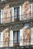 Μέτωπο του κτηρίου σε Plaza δήμαρχος Madrid Στοκ φωτογραφίες με δικαίωμα ελεύθερης χρήσης