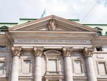 Μέτωπο του κτηρίου της National Bank της Αργεντινής σε Plaza de Mayo Στοκ φωτογραφία με δικαίωμα ελεύθερης χρήσης