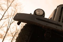 Μέτωπο του παλαιού φορτηγού στοκ εικόνες