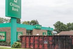 Μέτωπο τράπεζας πολιτών στοκ φωτογραφία με δικαίωμα ελεύθερης χρήσης