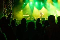 Μέτωπο των φωτεινών φω'των σκηνών, μουσική στοκ εικόνα με δικαίωμα ελεύθερης χρήσης