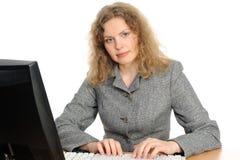 μέτωπο υπολογιστών η χαμ&omicro Στοκ Εικόνα