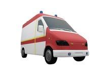 μέτωπο ambulanceeu που απομονώνετα& Στοκ Εικόνες