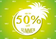 Μέχρι 50% από τη θερινή φωτεινή πώληση Στοκ φωτογραφία με δικαίωμα ελεύθερης χρήσης