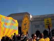 Μέλη NAACP στη συνάθροιση δημοκρατίας στην Ουάσιγκτον Δ Γ Στοκ Φωτογραφίες