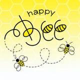 μέλισσα ευτυχής διανυσματική απεικόνιση