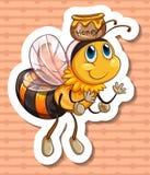 Μέλισσα και μέλι Στοκ φωτογραφία με δικαίωμα ελεύθερης χρήσης