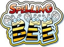 Μέλισσα ορθογραφίας κινούμενων σχεδίων διανυσματική απεικόνιση