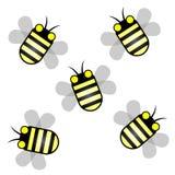 Μέλισσα πέντε Στοκ εικόνα με δικαίωμα ελεύθερης χρήσης