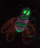 Μέλισσα που σύρεται στο μολύβι Στοκ Εικόνες