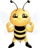 Μέλισσα σε ένα άσπρο υπόβαθρο Στοκ φωτογραφίες με δικαίωμα ελεύθερης χρήσης