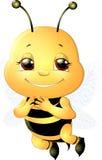 Μέλισσα σε ένα άσπρο υπόβαθρο Στοκ Φωτογραφίες