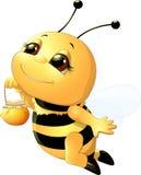 Μέλισσα σε ένα άσπρο υπόβαθρο Στοκ Εικόνα