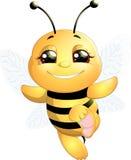 Μέλισσα σε ένα άσπρο υπόβαθρο Στοκ εικόνες με δικαίωμα ελεύθερης χρήσης
