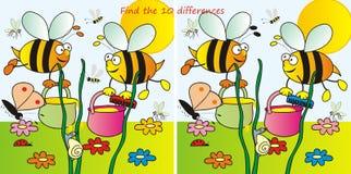 Μέλισσα-10differences Στοκ φωτογραφία με δικαίωμα ελεύθερης χρήσης