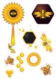 Μέλισσες και λουλούδι Στοκ Εικόνες