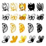 Μέλισσες λογότυπων Στοκ Εικόνα