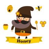 Μέλι και μελισσουργείο eps10 Στοκ φωτογραφία με δικαίωμα ελεύθερης χρήσης