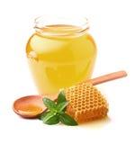 Μέλι με τη μέντα Στοκ Εικόνα