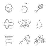 Μέλι τα εύκολα εικονίδια ανασκόπησης αντικαθιστούν το διαφανές διάνυσμα σκιών Στοκ Εικόνες