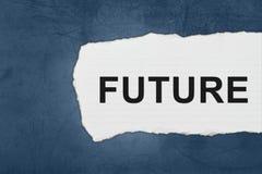 Μέλλον με τα δάκρυα της Λευκής Βίβλου Στοκ εικόνα με δικαίωμα ελεύθερης χρήσης