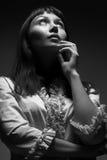 μέλλον που κοιτάζει στη γυναίκα Στοκ εικόνα με δικαίωμα ελεύθερης χρήσης