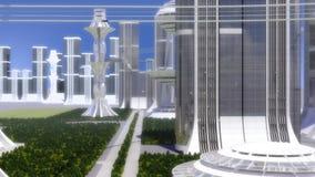 Μέλλον πόλεων απόθεμα βίντεο