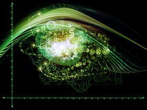 Μέλλον των αριθμών Στοκ Εικόνα