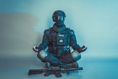 Μέλος της ομάδας SWAT Στοκ Φωτογραφία