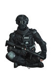 Μέλος της ομάδας SWAT Στοκ φωτογραφία με δικαίωμα ελεύθερης χρήσης