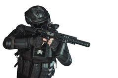 Μέλος της ομάδας SWAT Στοκ Φωτογραφίες